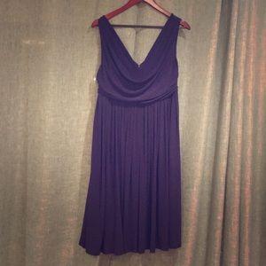Asos Cocktail Dress, Navy/Dark Purple